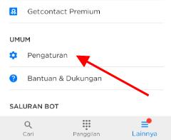 cara delete akun get contact