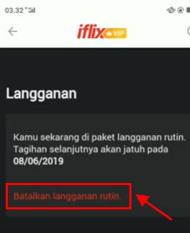 cara berhenti langganan iflix vip telkomsel