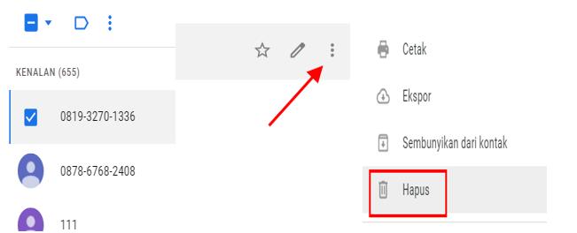 Cara Hapus Kontak Di Akun Google Lewat Laptop Atau Pc
