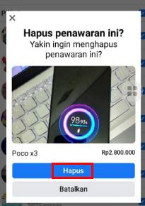 Cara Menghapus Tawaran di Marketplace Facebook